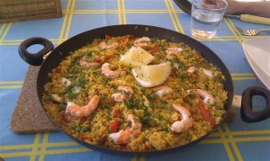 Paella a real summer treat