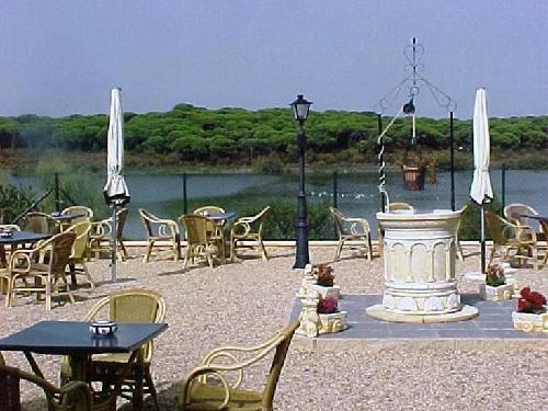 Lakeside terrace