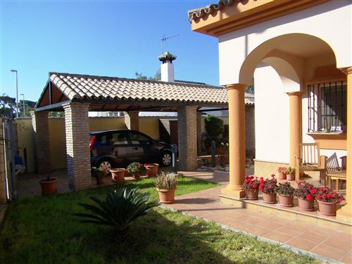 Villa and car port