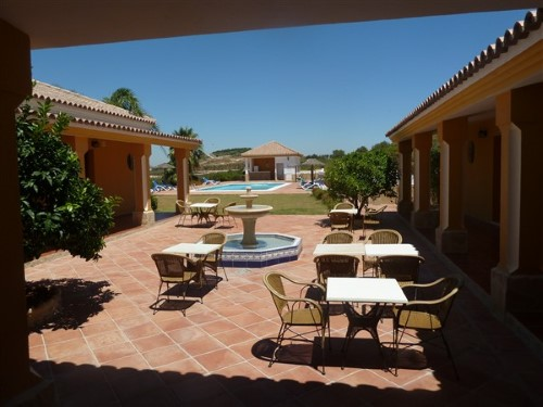 Courtyard and guest accommodation