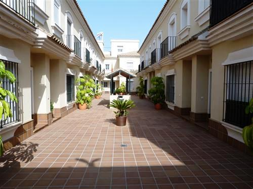 The gated apartment buildings